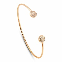 0.30CTW White Diamond 14K Yellow Gold Bangle