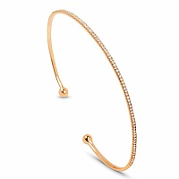 0.34CTW White Diamond 14K Yellow Gold Bangle