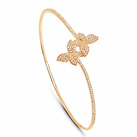 0.62CTW White Diamond 14K Yellow Gold Bangle