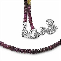 53.30CTW Shaded Emerald, Ruby, Sapphire Faceted Bati 45CM Lo