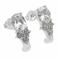 3.92CTW White Cubic Zircon .925 Sterling Silver Earrings
