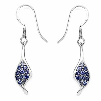 0.75CTW Genuine Tanzanite .925 Sterling Silver Earrings