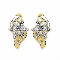 0.72CTW White Cubic Zircon .925 Sterling Silver Gold Plating