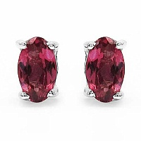 0.70CTW Genuine Pink Tourmaline .925 Sterling Silver Oval Sh