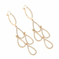 1.28CTW White Diamond 14K Yellow Gold Earrings
