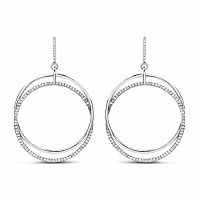 0.67CTW White Diamond 14K White Gold Earrings