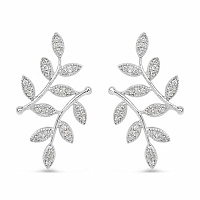 0.24CTW White Diamond 14K White Gold Earrings