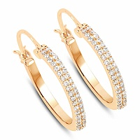 0.30CTW White Diamond 14K Yellow Gold Earrings