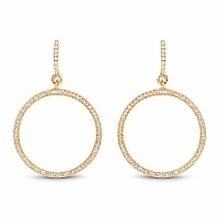 0.58CTW White Diamond 14K Yellow Gold Earrings