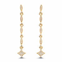 0.18CTW White Diamond 14K Yellow Gold Earrings