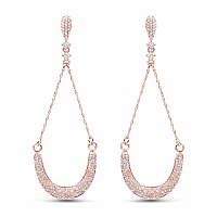 1.38CTW White Diamond 14K Rose Gold Earrings