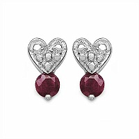 0.83CTW Genuine Ruby .925 Sterling Silver Earrings