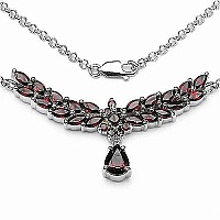 5.57CTW .925 Sterling Silver Garnet Necklace