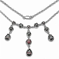 5.16CTW .925 Sterling Silver Garnet Necklace