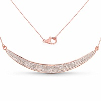 1.76CTW White Diamond 14K Rose Gold Necklace