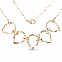 1.10CTW White Diamond 14K Yellow Gold Necklace