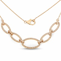 0.85CTW White Diamond 14K Yellow Gold Necklace