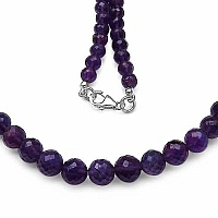147.90CTW African Amethyst 49CM Long .925 Sterling Silver Be