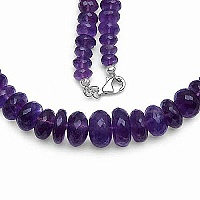 360.00CTW Genuine Amethyst .925 Sterling Silver Necklace