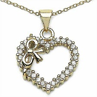 0.84CTW White Cubic Zircon .925 Sterling Silver Gold Plated