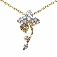 0.24CTW White Cubic Zircon 14K Yellow Gold Plated .925 Sterl