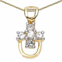 0.50CTW White Cubic Zircon 14K Yellow Gold Plated .925 Sterl