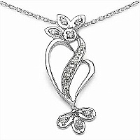 0.20CTW .925 Sterling Silver White Cubic Zirconia Pendant