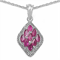 1.80CTW Genuine Ruby .925 Sterling Silver Pendant