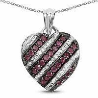1.56CTW Genuine Ruby .925 Sterling Silver Pendant