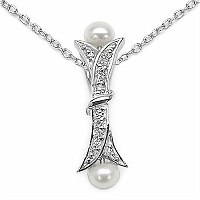 0.82CTW Pearl .925 Sterling Silver Pendant