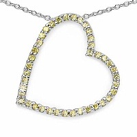 0.80CTW Genuine Yellow Cubic Zircon .925 Sterling Silver Pen