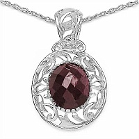 6.57CTW Genuine Ruby .925 Sterling Silver Pendant
