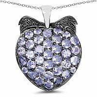 4.14CTW Genuine Tanzanite .925 Sterling Silver Pendant