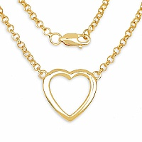 Heart Shape .925 Sterling Silver Designer Gold Plated Pendant