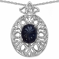 Inspirations 5.30CTW Fancy Shape Genuine Sapphire .925 Sterling