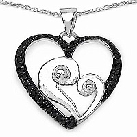 Mother's Day Special: 0.25CTW Genuine Black Diamond .925 Ste