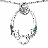Mother's Day Special: 0.18CTW Genuine Emerald .925 Sterling