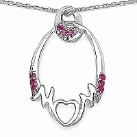 Mother's Day Special: 0.27CTW Genuine Ruby .925 Sterling Sil
