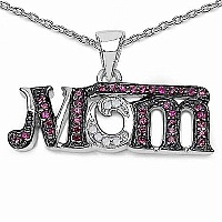 Mother's Day Special: 0.41CTW Genuine Created Ruby & White D
