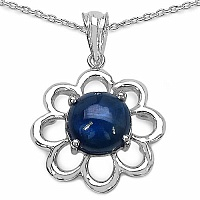 Inspirations 4.65CTW Fancy Shape Genuine Blue Sapphire .925 Ste