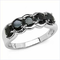 1.65CTW Genuine Sapphire .925 Sterling Silver Ring