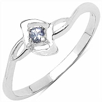 0.05CTW Genuine Tanzanite .925 Sterling Silver Ring