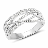 0.24CTW White Diamond 14K White Gold Ring