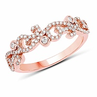 0.39CTW White Diamond 14K Rose Gold Ring