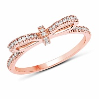 0.22CTW White Diamond 14K Rose Gold Ring