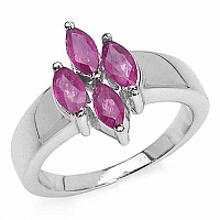 1.20CTW Genuine Ruby .925 Sterling Silver Ring