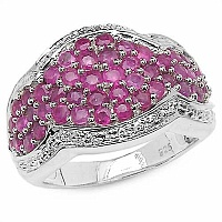 2.10CTW Genuine Ruby .925 Sterling Silver Ring