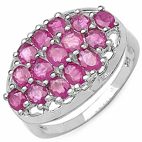 3.30CTW Genuine Ruby .925 Sterling Silver Ring