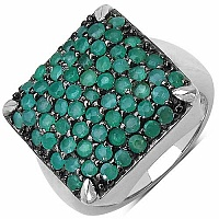 2.50CTW Genuine Emerald .925 Sterling Silver Ring