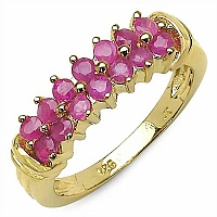 0.84CTW Genuine Ruby .925 Sterling Silver Ring